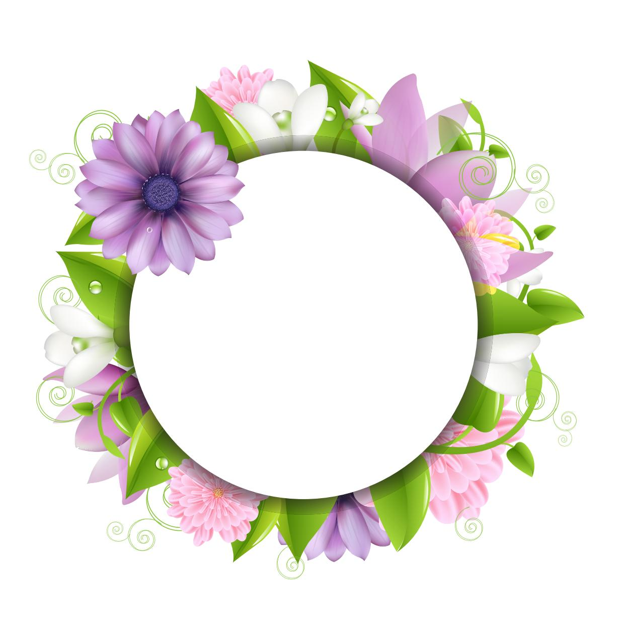 Background Frame Flower - ClipArt Best