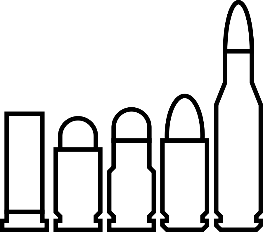 Logo Black Bullet Bullet Silhouette Icon Black