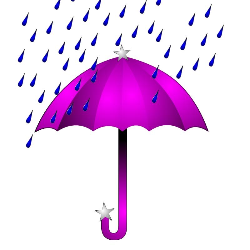 Umbrella And Rain Clipart - ClipArt Best