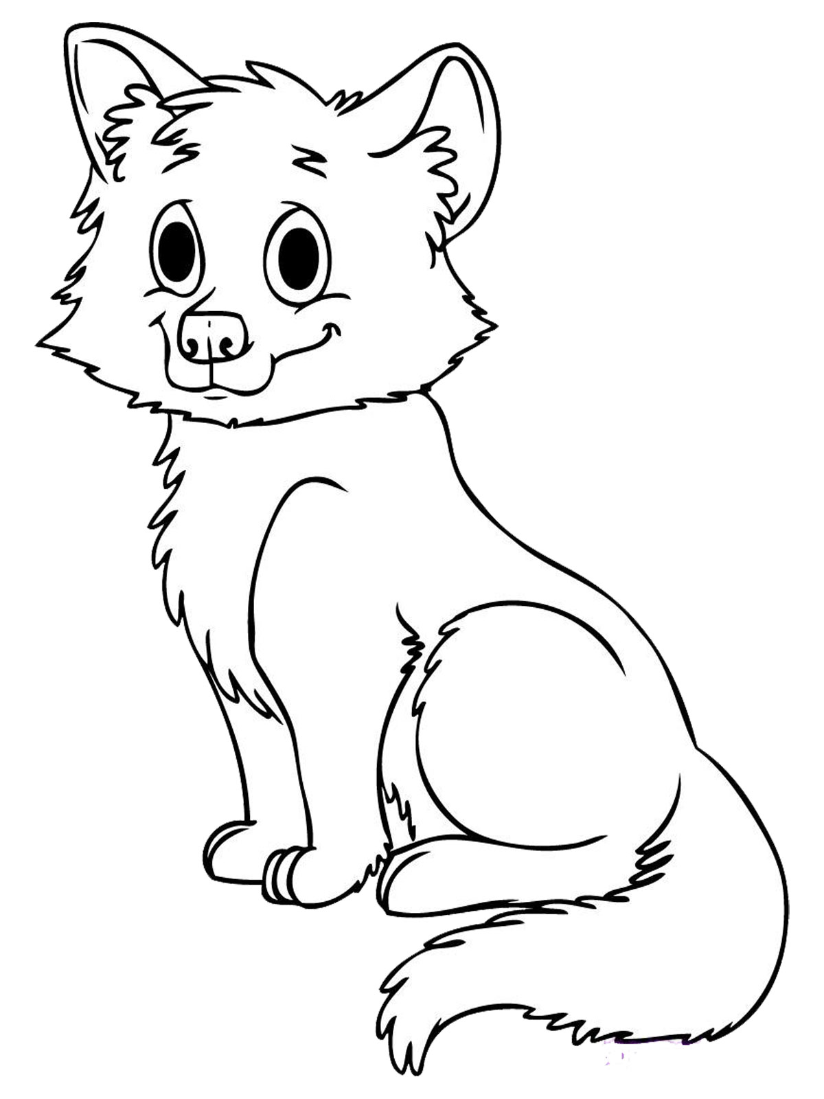 Cute Baby Wolf Coloring Pages Animal Coloring pages of