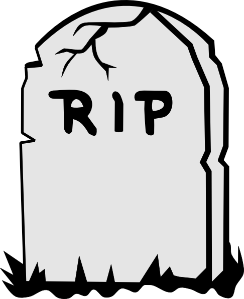 Rip Tombstone clip art - vector clip art online, royalty free ...