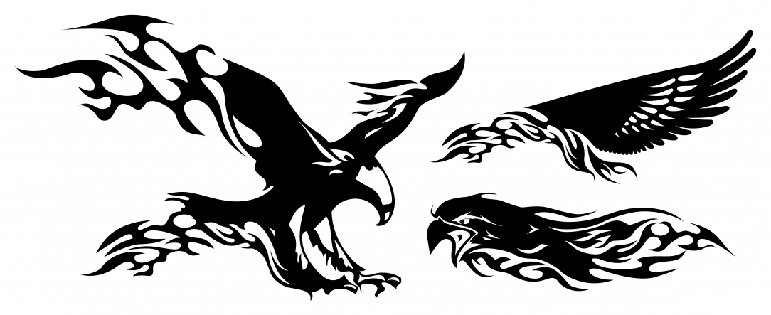 flaming eagle tattoo clipart best. Black Bedroom Furniture Sets. Home Design Ideas