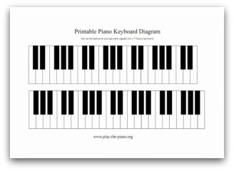 Blank piano worksheet clipart best for Blank keyboard template printable