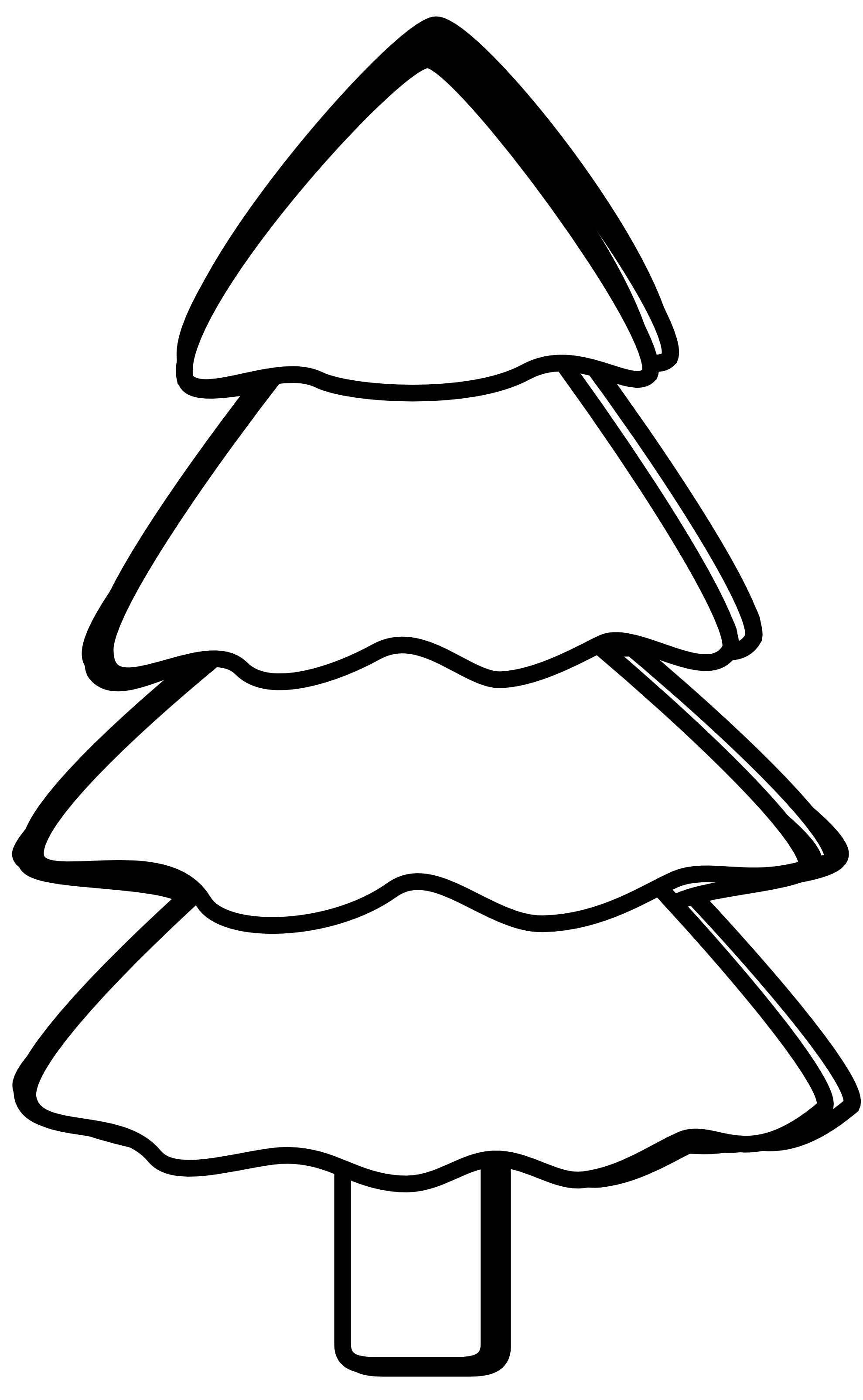 Christmas Tree Clip Art Black And White - ClipArt Best