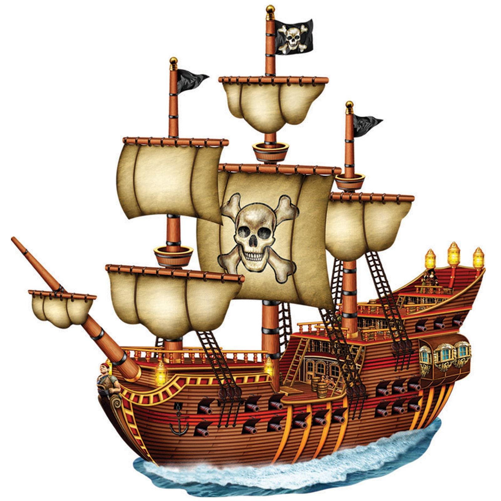 11 cartoon pirate ships free cliparts that you can download to you