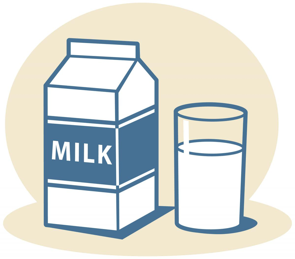 clipart of a glass of milk - photo #4