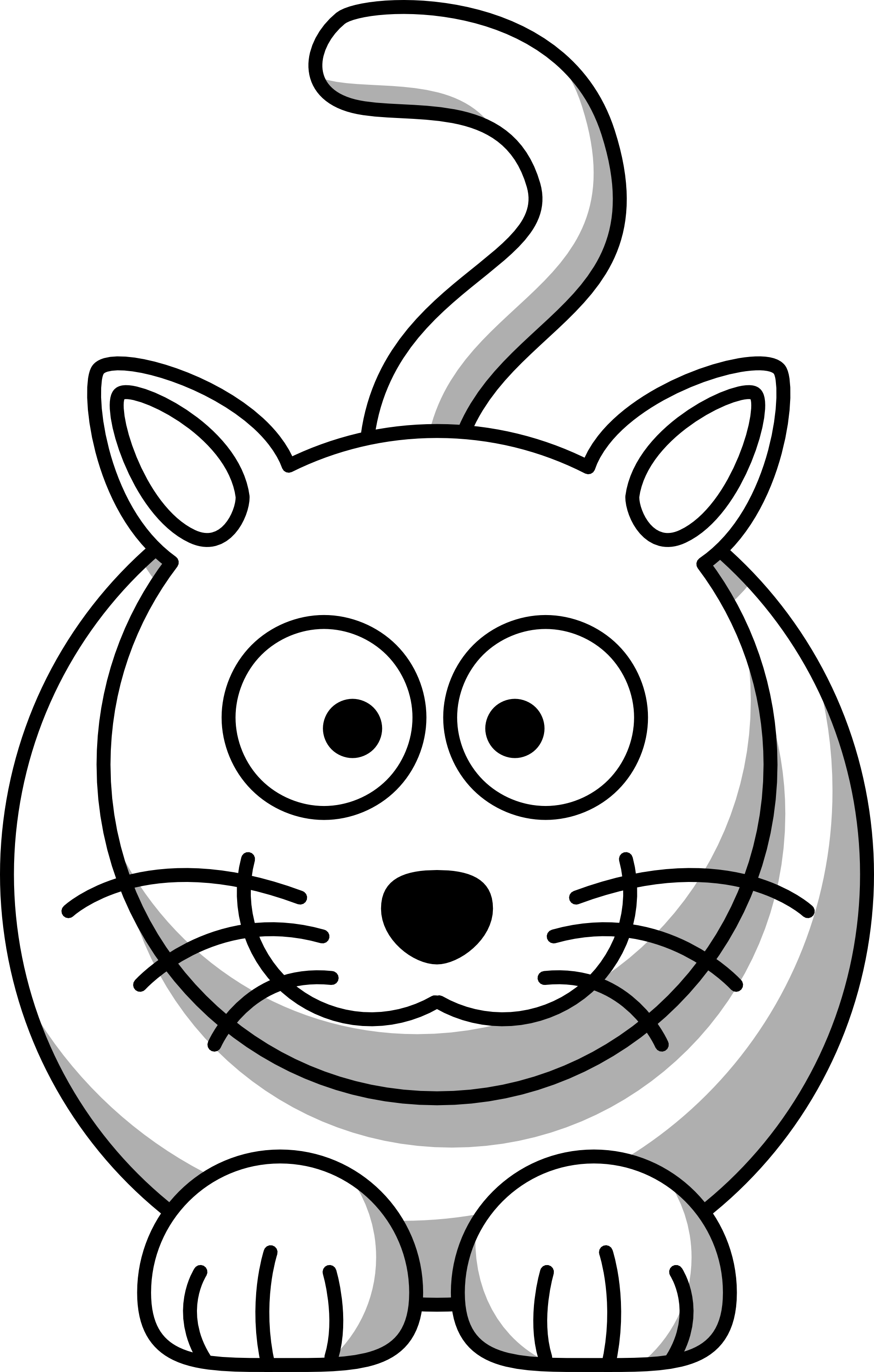 Black And White Cartoon Animals - ClipArt Best