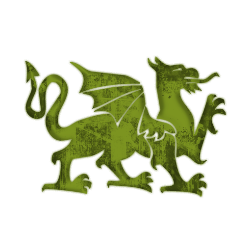 fantasy green dragon