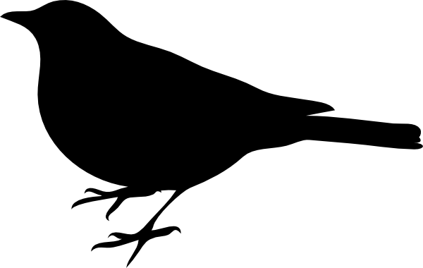 Comprehensive image inside bird silhouette printable