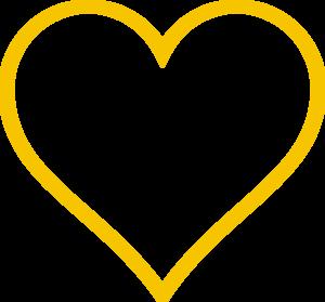 Bright Gold Heart clip art - vector clip art online, royalty free ...