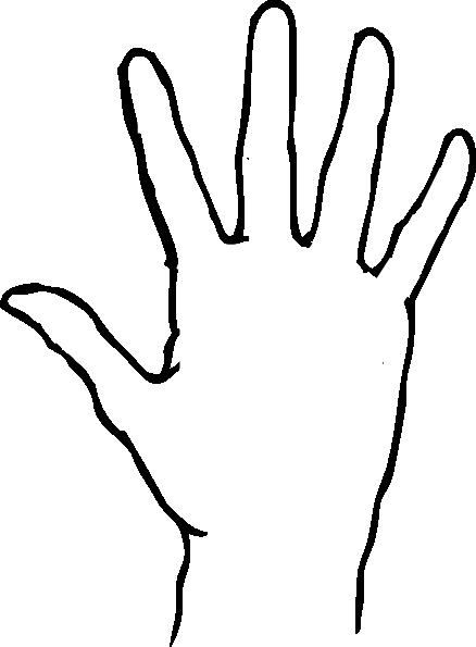 Blank Handprint Template - ClipArt Best