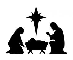 Nativity Silhouette Printable Nativity silhouette patterns