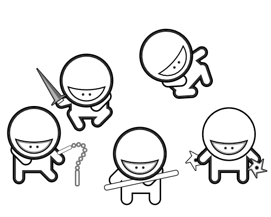 coloring pages ninjas cartoon - photo#2