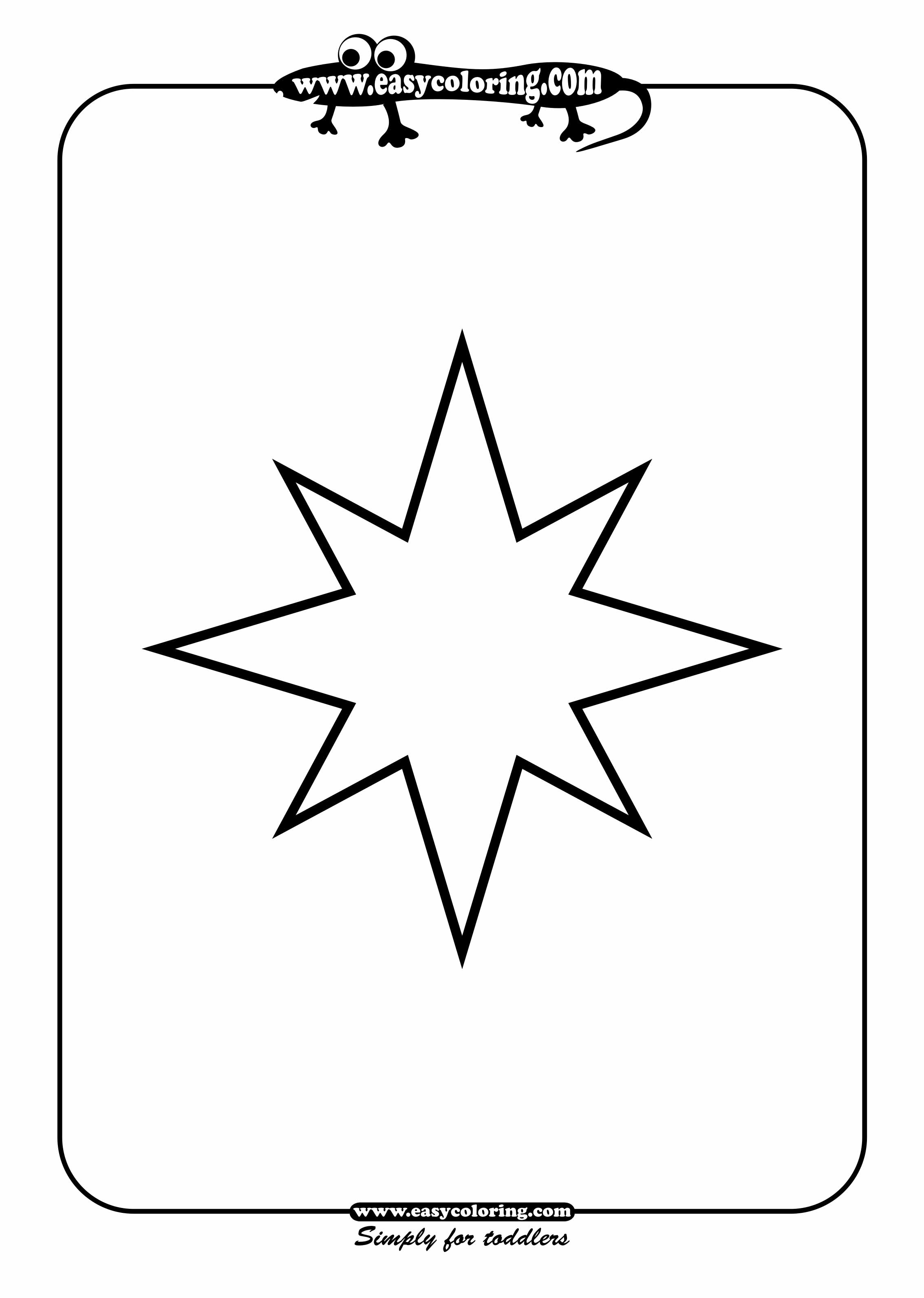 Star shapes printable clipart best for Coloring pages of stars shape