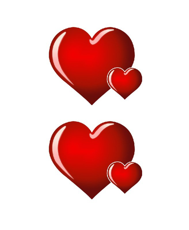 Heart Stencils For Full Page Paper Clipart Best