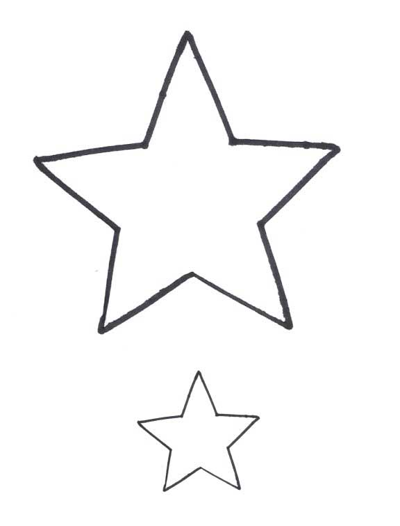 small star template printable free - small star shape clipart best