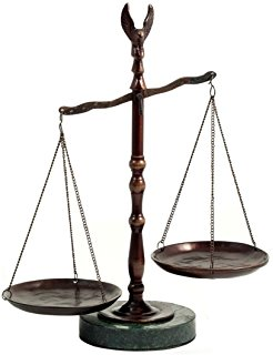 Amazon Com Bronzed Legal Lawyer Scales Of Justice With