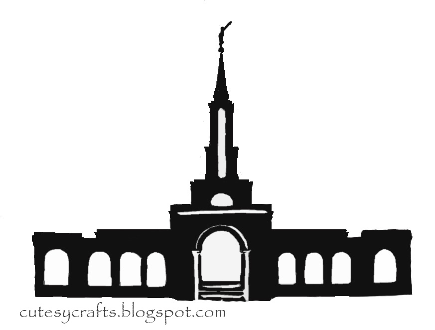 Black And White Clipart Of San Diego Lds Temple - ClipArt Best