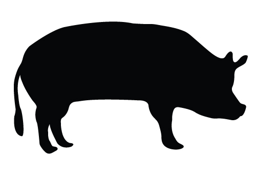 pig silhouette clipart best