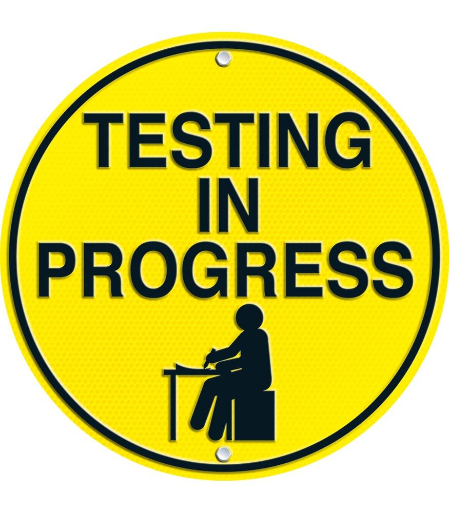 Quiet Please Testing Sign QUIET PLEASE SIGNS - C...