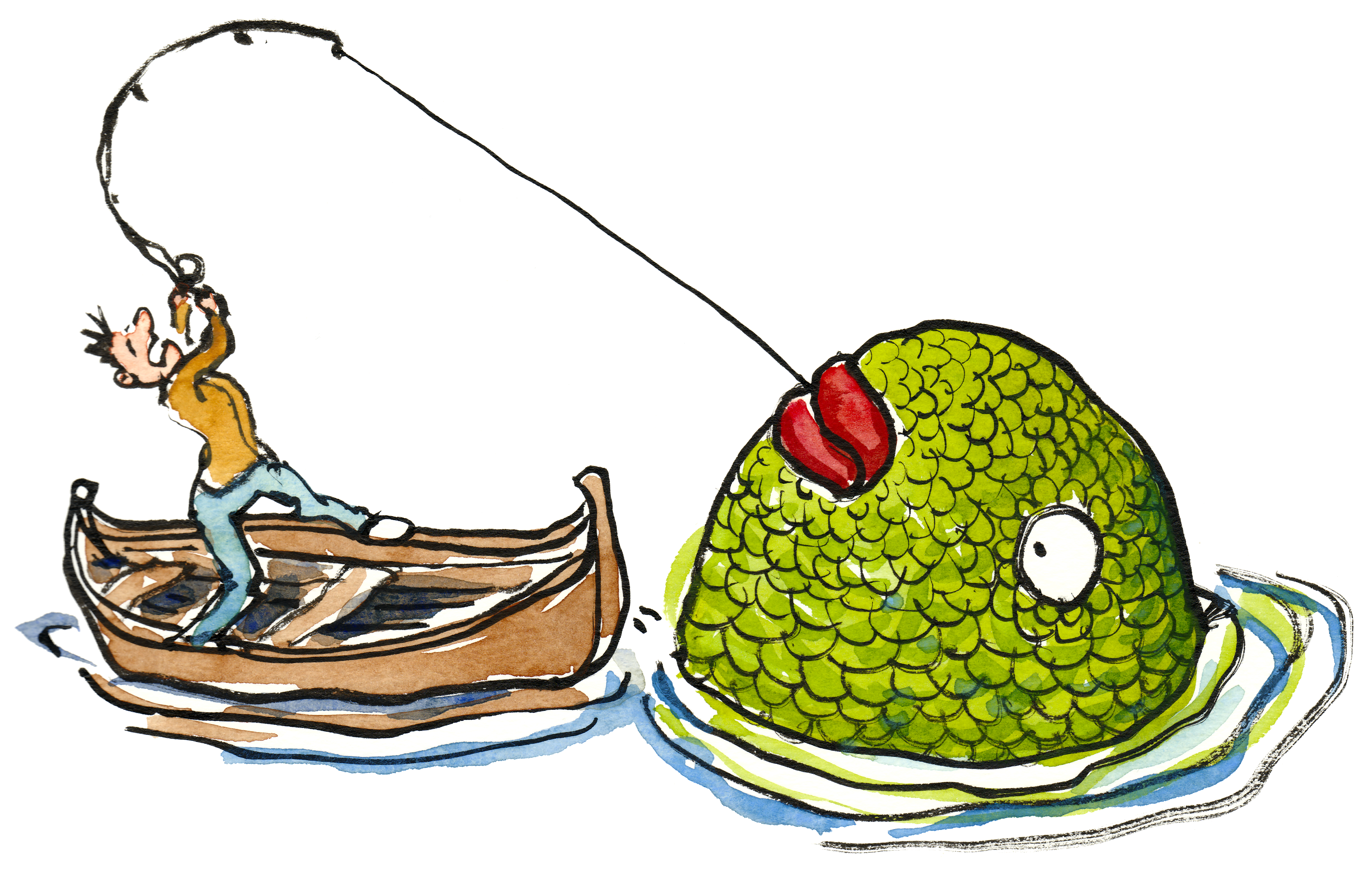 Big fish cartoon clipart best for Fish catching net