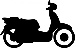 Motorbike Clipart Black And White - ClipArt Best