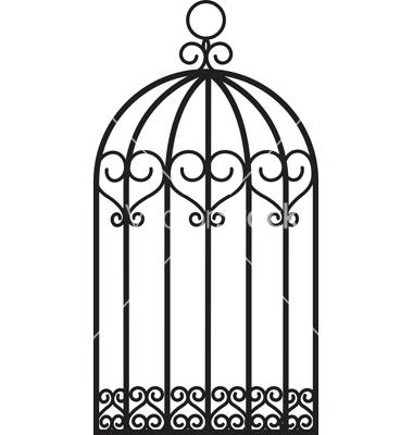 Open Birdcage Silhouette Birdcage Clipart - Cli...