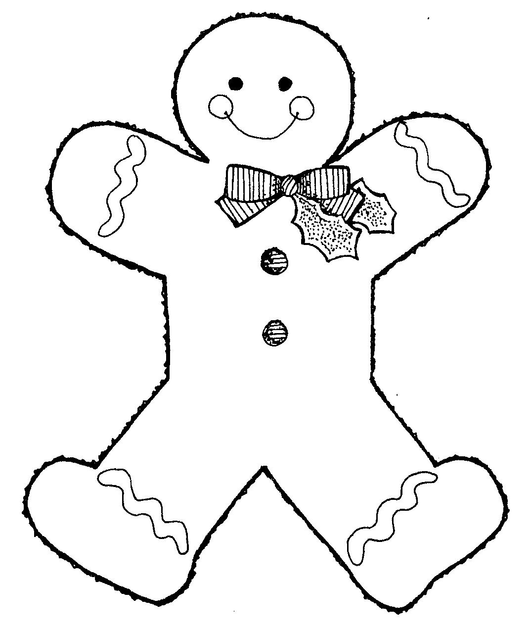Gingerbread Man Outline - ClipArt Best - ClipArt Best
