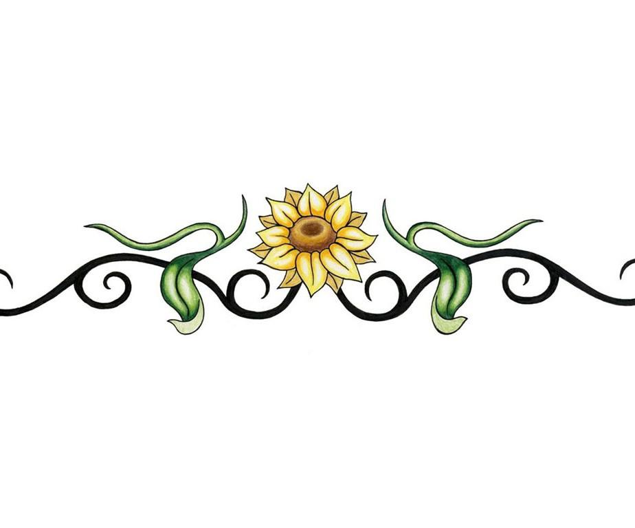 Sunflower Vine Tattoo Designs