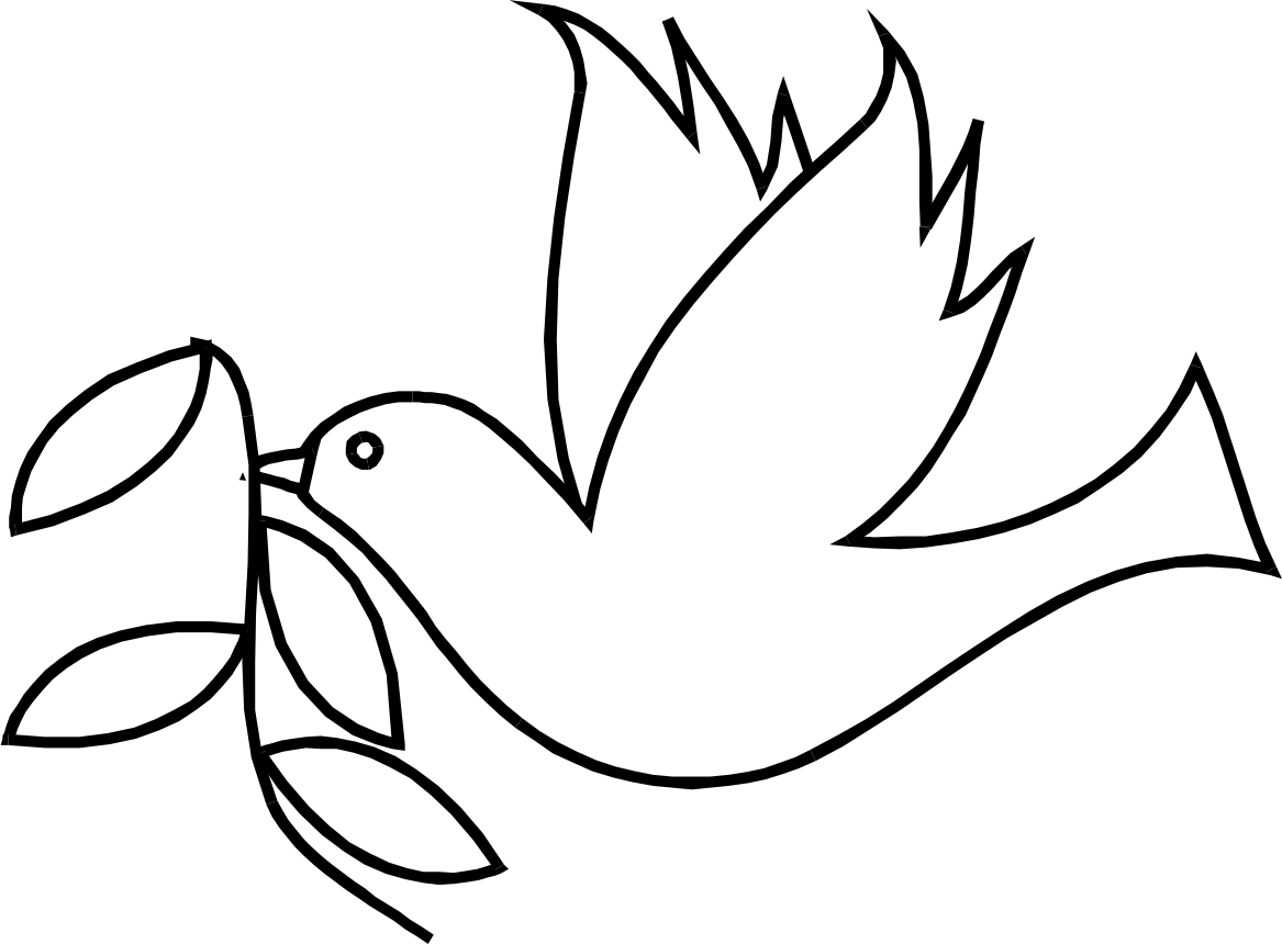 Simple Bird Line Art : Dove birds drawings clipart best