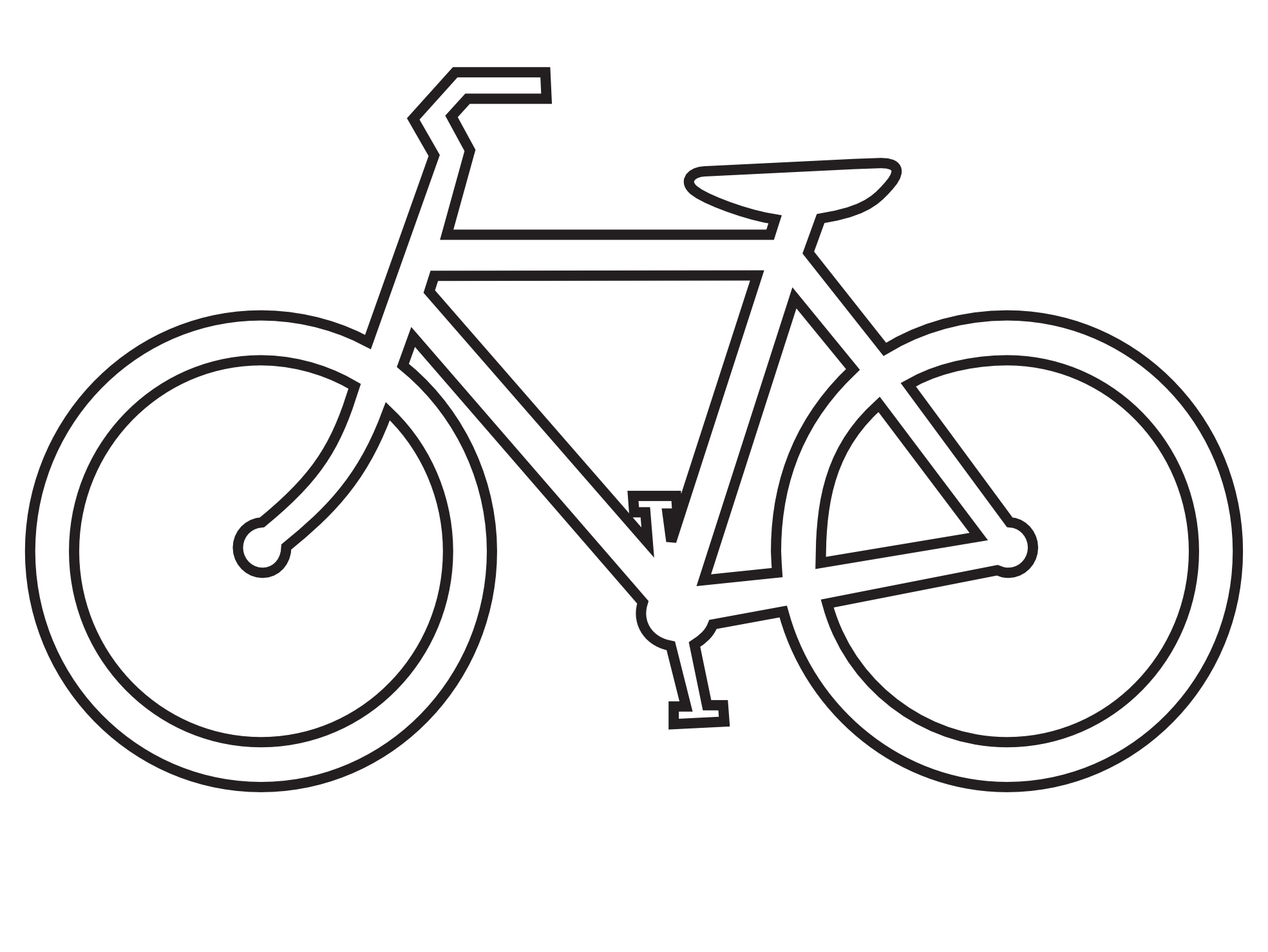 Line Drawing Bicycle : Bicycle draw clipart best