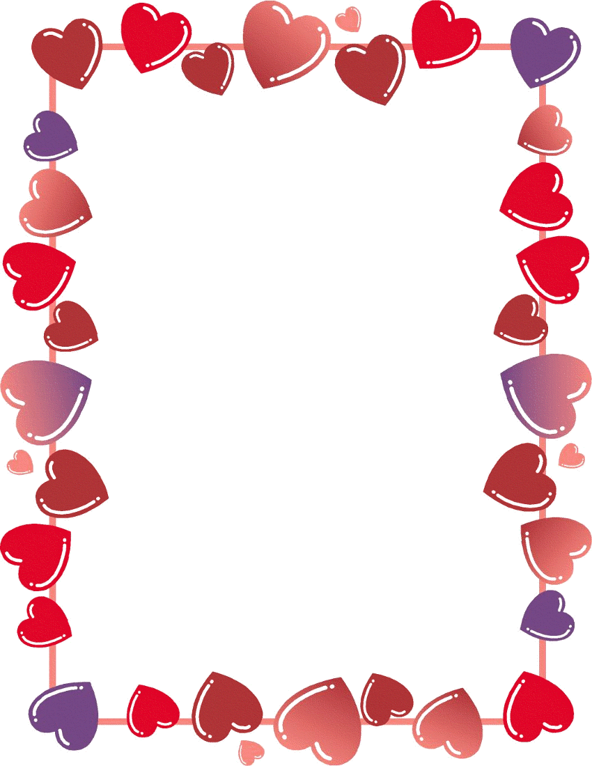 Free Valentine Borders Clipart, 1 page of Public Domain Clip Art ...
