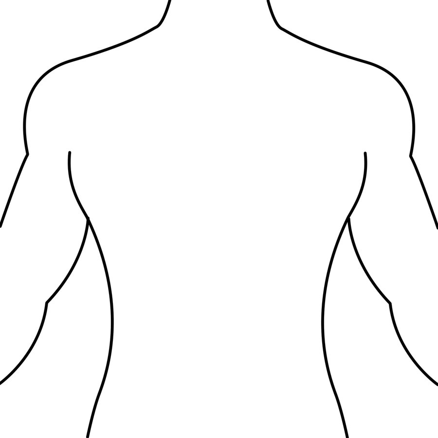 Line Drawing Human : Line drawing human body clipart best
