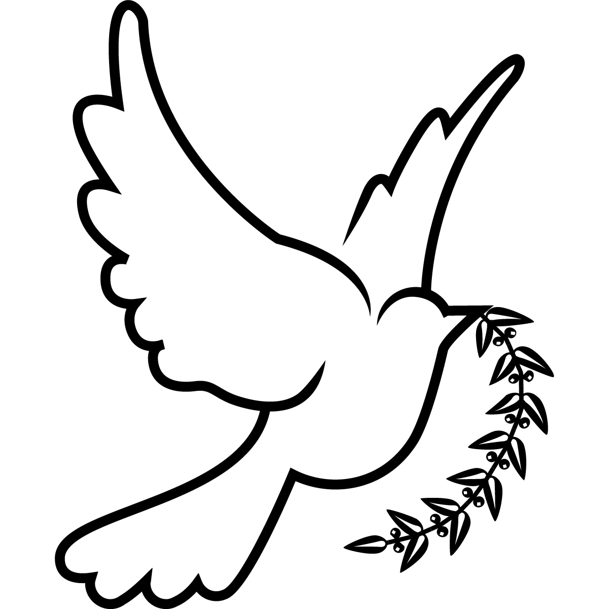 Line Art Dove : Dove bird drawing clipart best