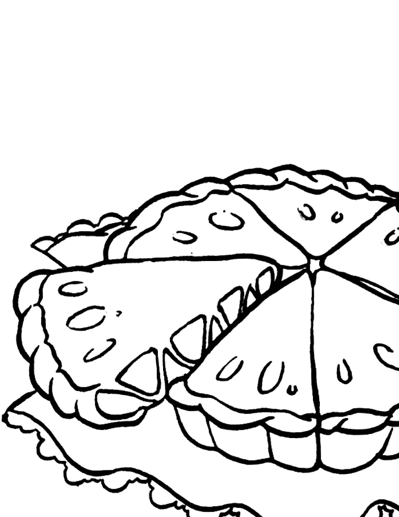 Apple Pie Coloring Pages Coloring