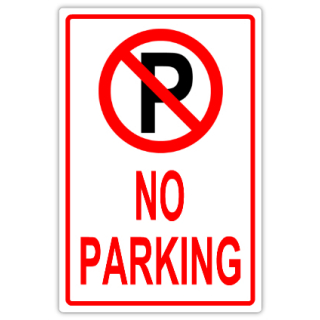 no parking signs template - no parking 107 tow away parking sign templates