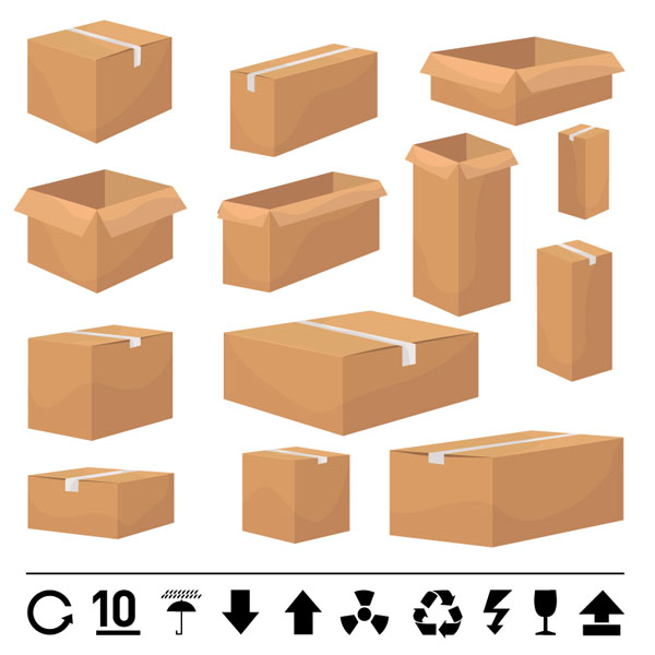 And carton box template vector Free Vector / 4Vector