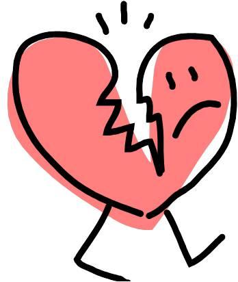 cartoon broken heart clipart best