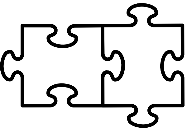Puzzle Pieces Outline - ClipArt Best