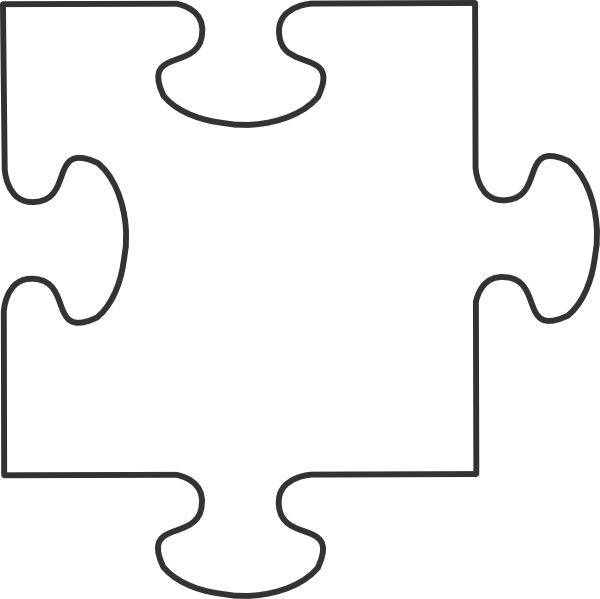 Autism puzzle pieces black and white