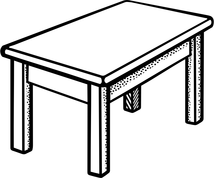 Table line drawing clipart best for Table design sketch