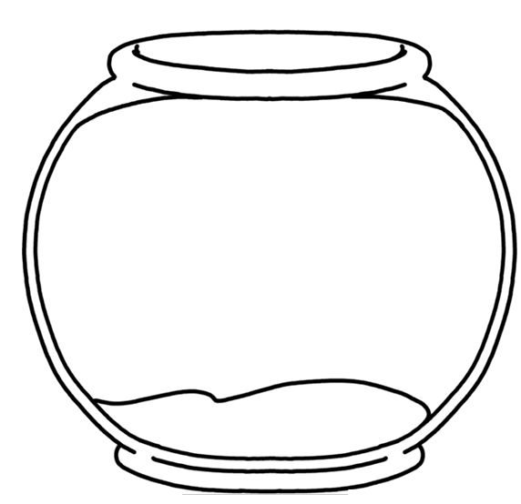 Template Of Fish Bowl Clipart Best