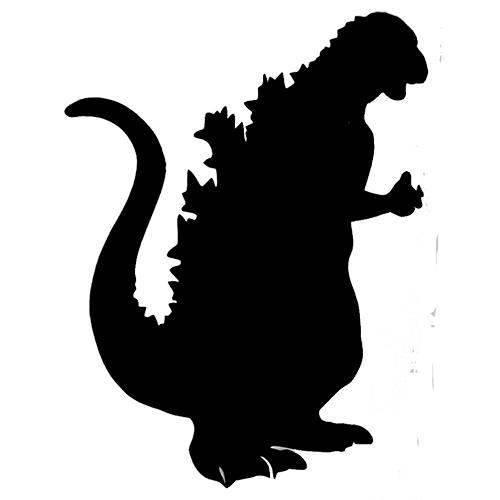 godzilla silhouette vector free clipart best