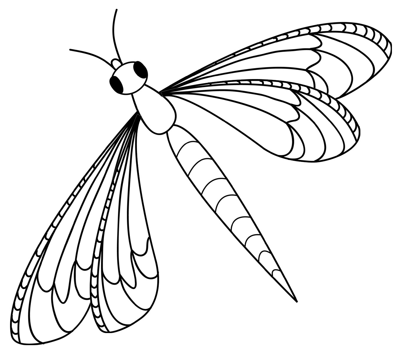 Clip Art Insects Dragonfly Grayscale | Coloringkids.co