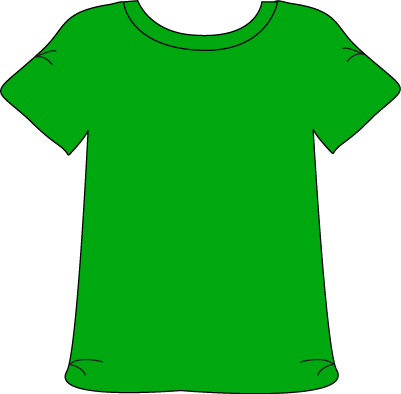 Green Tshirt Clip Art - blank - Free Clipart Images