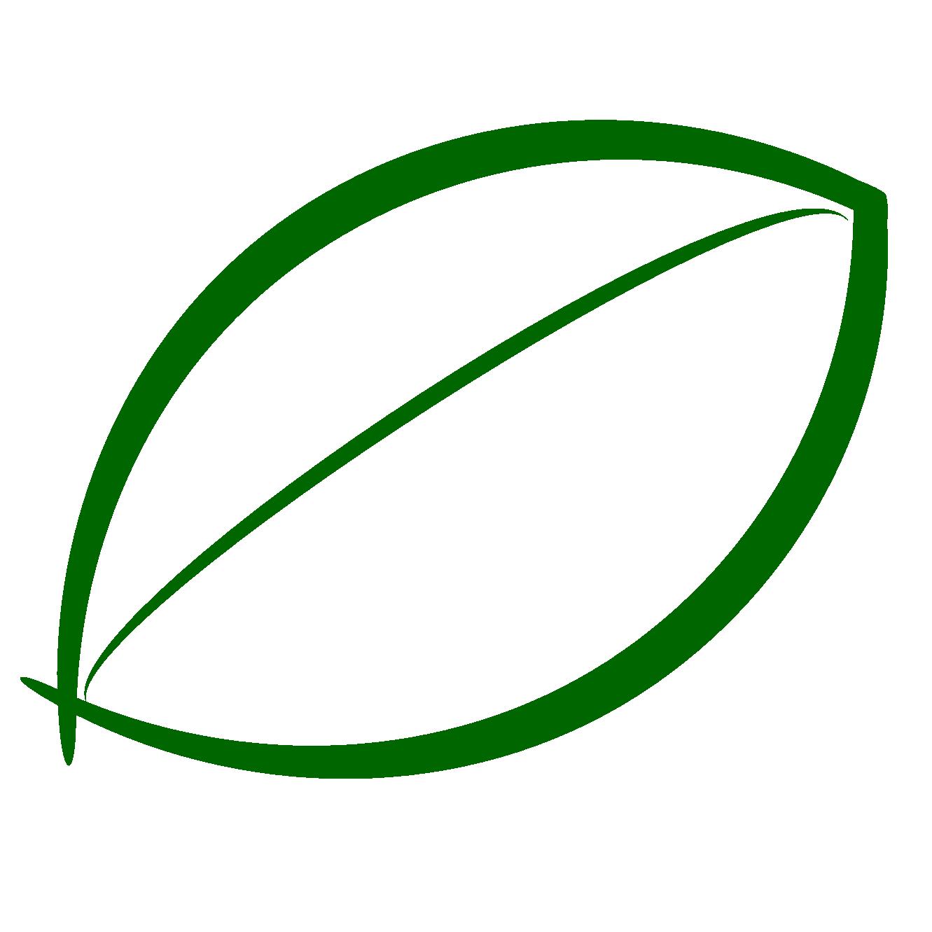 Green Leaf Outline - ClipArt Best