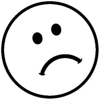 Sad Smiley Faces Black...
