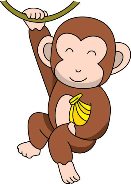 Monkey Banana Clipart Clipart Best