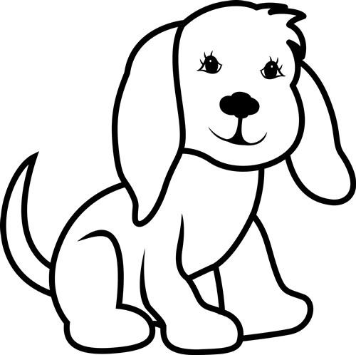 animals vector design  dog outline from grand slam designs