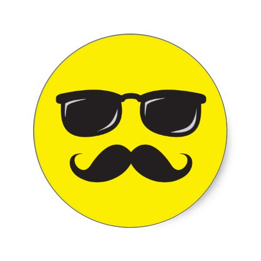Mustache Smiley Face - ClipArt Best
